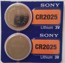 Sony CR2025 Batterie piles 2025 DL2025 KRC2025 Cellule Bouton 3 V expire 2027 X 2