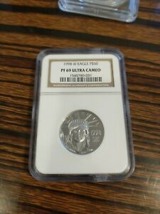 1998 W American Eagle Platinum Coin $50 W/NGC PF69