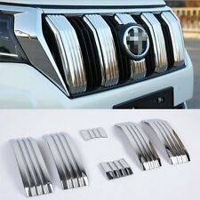 Fits Toyota 2018 New Land Cruiser PRADO Chrome Front Grill Grille Cover Trims