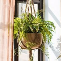 Plant Basket Pot Hanger Rope Holder DIY Handcraft Window Jute Flowerpot Hanging