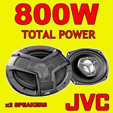 """Jvc 6 """"x9"""" 800 total 3way 6x9 Pulgadas coche trasero Deck Oval de estantería altavoces Con Parrillas"""
