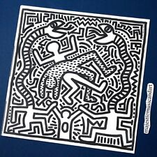 ORIGINAL 1983 KEITH HARING ART PRINT & VINYL LP EX RARE