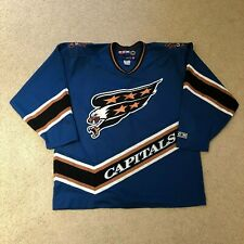 Vintage Washington Capitals CCM Hockey Jersey Screaming Eagle XL Blue 1995-00