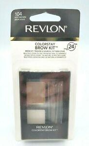 Revlon ColorStay Brow Kit 104 Soft Brown Brand New