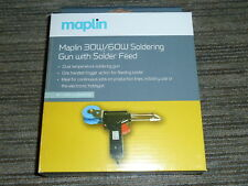 30W 60W SOLDERING IRON GUN TRIGGER SOLDER FEED REEL Dual Temp Maplin BRAND NEW!
