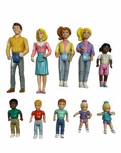 10 Vintage Playskool Loving Family Dollhouse Figures