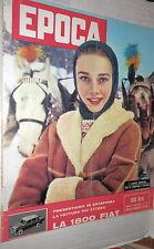 EPOCA 15 Febbraio 1959 Audrey Hepburn Manfred Klaiber Lino Ventura Camorani di e