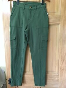New Time and Tru Women Cargo Knit Pants Stretch Green many sizes