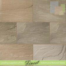 Indian Sandstone Paving | 90cm x 60cm | Raj Green | Sawn Edge 22mm Calibrated