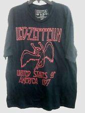 Led Zeppelin United States of America 1977 Tour Replica 2Xl Black Cotton T-shirt