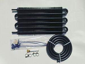 6 Row oil cooler power steering Transmittion Gearbox Aluminium kit