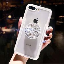 3D Luxury Diamond Airbag Bracket Imitation Glass Case Cover For Various Phone