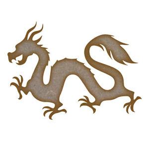 Dragon (Design 2) MDF Laser Cut Craft Blanks in Various Sizes