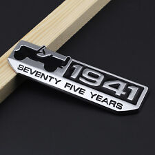 Silver Metal 1941 Off-Road SUVs 75 Year Operation Emblem Badge For Jeep Wrangler