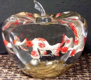 "Glen Tarnowski ""Seedling"" Hand Signed Lucite sculpture goldfish Make and Offer!"
