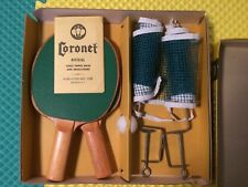 Vintage Coronet Allied-Victor Ping Pong Table Tennis Set Brooklyn New York USA