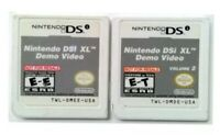 Demo Video Not For Resale for DSi XL Volume 1 & 2-USED