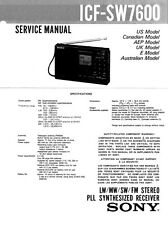 SONY ICF-SW7600 SERVICE MANUAL ON A CD
