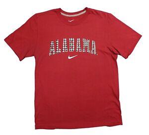 Nike Alabama Crimson Tide Houndstooth Pattern Cotton Shirt Large