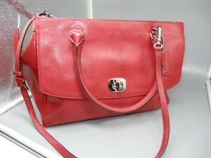 COACH Leather bag 23572 XL RED LIZARD Pinnacle Harper tote bag satchel