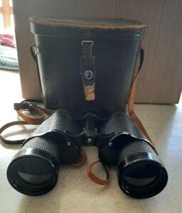 Vintage Zeiss Wetzler Binoculars Model 36200 7x50 Field 7.1 With Case