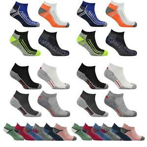 2/4/6 Pairs Mens Ladies Cushioned Sole Trainer Liner Sports Socks Running Gym