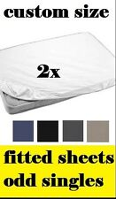 Caravan & Motorhome custom size bed sheets. FITTED SHEET PACK. Odd size singles