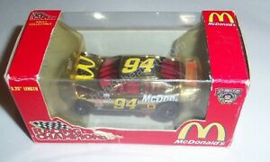 1:64 1998 RACING CHAMPIONS #94 MCDONALDS BILL ELLIOTT GOLD HOOD OPEN BOXED