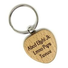 Personalized - LASER ENGRAVED - BAMBOO Heart Key Chain - Custom Engraved