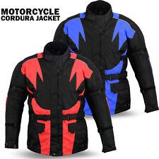 Mens Motorcycle Motorbike Cordura Textile Waterproof Jackets Bikers CE Armored