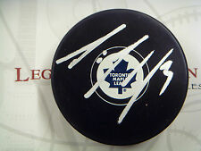 Dion Phaneuf Toronto Maple Leafs Signed NHL Logo Puck