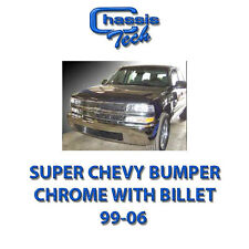 CHEVY TAHOE CHROME SUPER BUMPER W/ BILLET 00-06*No Returns*Small ding or scratch