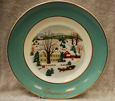 """Christmas on the Farm"" 1973 Avon Christmas Memories Plate Series 1st Ed."