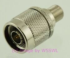 Coax Adapter N Male to Type F Female - by W5SWL ®