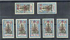 FRENCH INDIA Sc 184-90(YT 184-90)**F-VF NH, SCARCE FRANCE LIBRE SET, $1,850