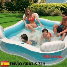 Envío 48h-/Intex- Piscina hinchable Cuadrada con Asientos 229 x 66 cm 990 litros