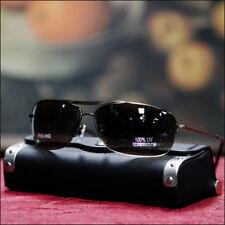 New Half Rimless Aviator Mens Sunglasses Fashion Casual Trendy Bronze