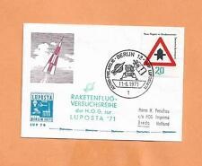 BERLIN ROCKET  LAUNCH NOV 6,1971