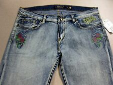 NWT Ed Hardy Vintage Tattoo Wear Eagle Womens Capri Jeans FREE SHIPPING Backroom