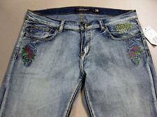 NWT Ed Hardy Vintage Tattoo Wear Eagle Womens Capri Jeans FREE SHIPPING Backroom