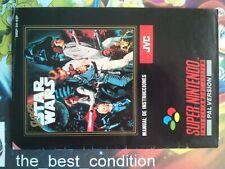 Manual SUPER STAR WARS ●9/10● PAL ESP 100% Orig SNES SUPER NINTENDO SUPER NES