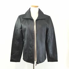 EAST 5TH WOMEN'S FITTED BLACK LEATHER JACKET Fully Lined COAT Worn Once Size L