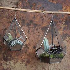 Lrg verre suspendu jardiniere diamond terrarium bougeoir lanterne nkuku Manduri