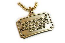 Disney DIsneyland Entrance Plaque Walt Fantasy Pendant Necklace Charm with Chain
