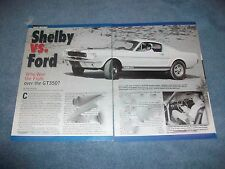 """Shelby GT350 History Info Article """"Shelby vs. Ford"""" G.T. 350"""
