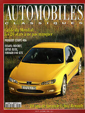 REVUE MAGAZINE AUTOMOBILES CLASSIQUES N°77 10 1996 PEUGEOT ROCKET LOTUS FERRARI