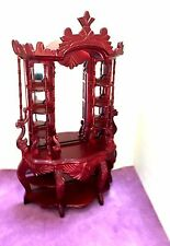 DOLLHOUSE MINIATURE VICTORIAN  ETAGERE /  DISPLAY  CABINET