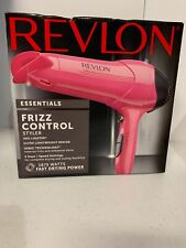 Revelon Essentials Frizz Control Styler Hair Dryer 1875 Watts Ionic Pink