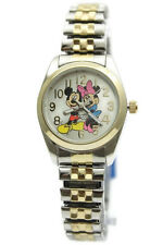 New Mickey and Minnie Two Tone Stretch Band Classic Watch MCK803