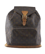 Louis Vuitton Montsouris GM Brown Coated Canvas Backpack